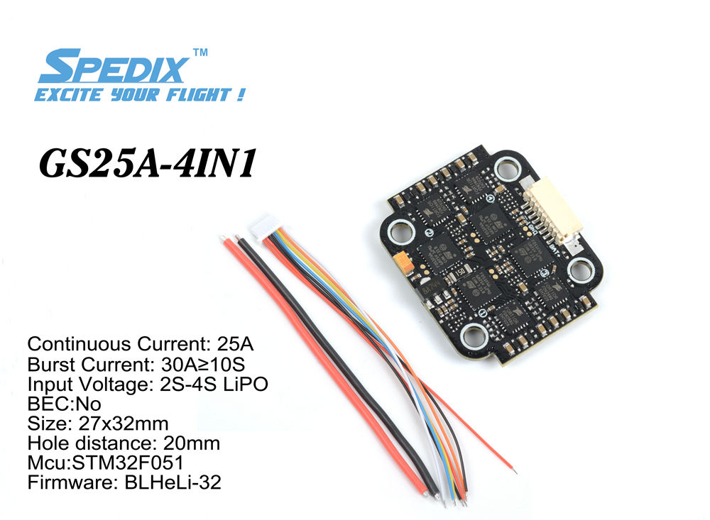 Spedix GS25A 4 in 1 ESC main photo