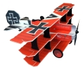 Crack Fokker Dr.1 Triplane Red Baron - Red/Yellow