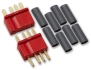 Deans Micro Plug Pair - 4 Pin, Red, Polarised